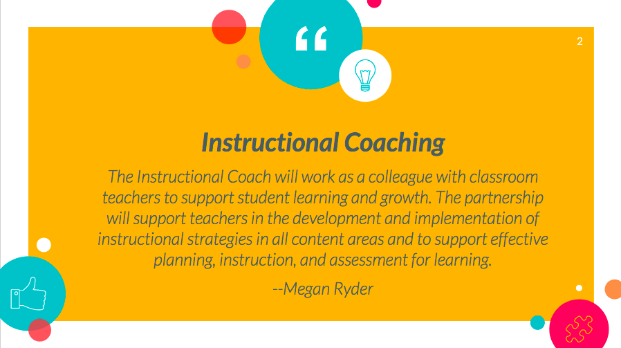 Instructional Coaching Heather Hill Elementary