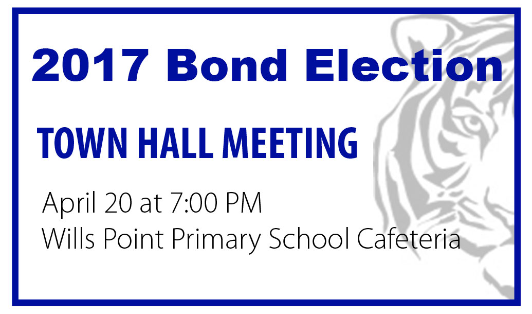 Bond Town Hall Meeting April 20th at 7 pm