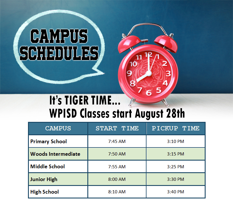 campus schedules