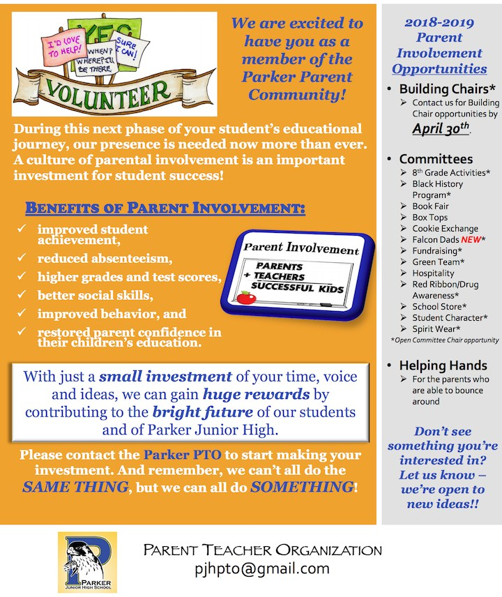 Come join the Parker PTO.