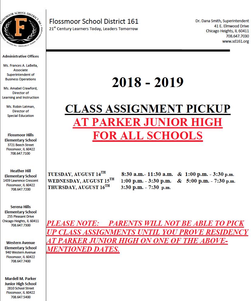 Class Assignment Pick Up