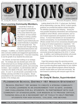 Picture of Spring Newsletter cover