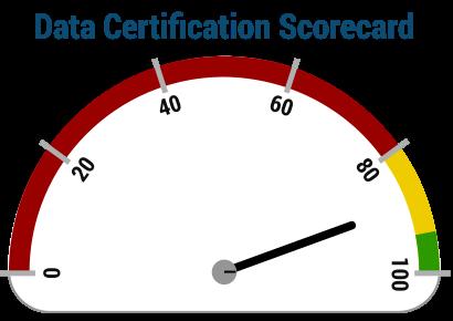 Data Certification Score icon