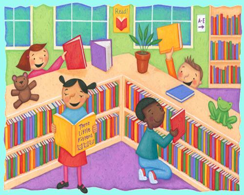Library Media Center Harrison Elementary School