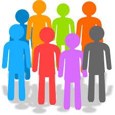 Clipart of colorful people