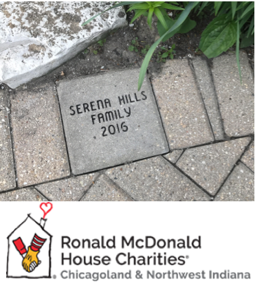 Ronald McDonald House Charities brick from Serena Hills family 2016