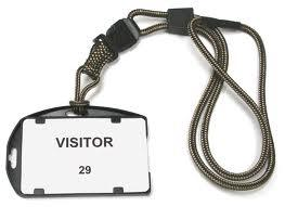 Visitors badge