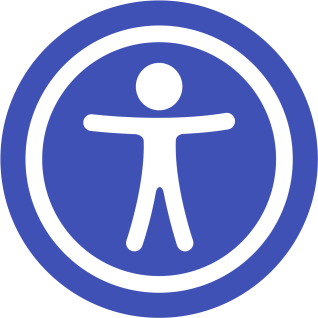 Accessibility Statement, Image of Accessibility Icon, a person with arms and legs out in a circle