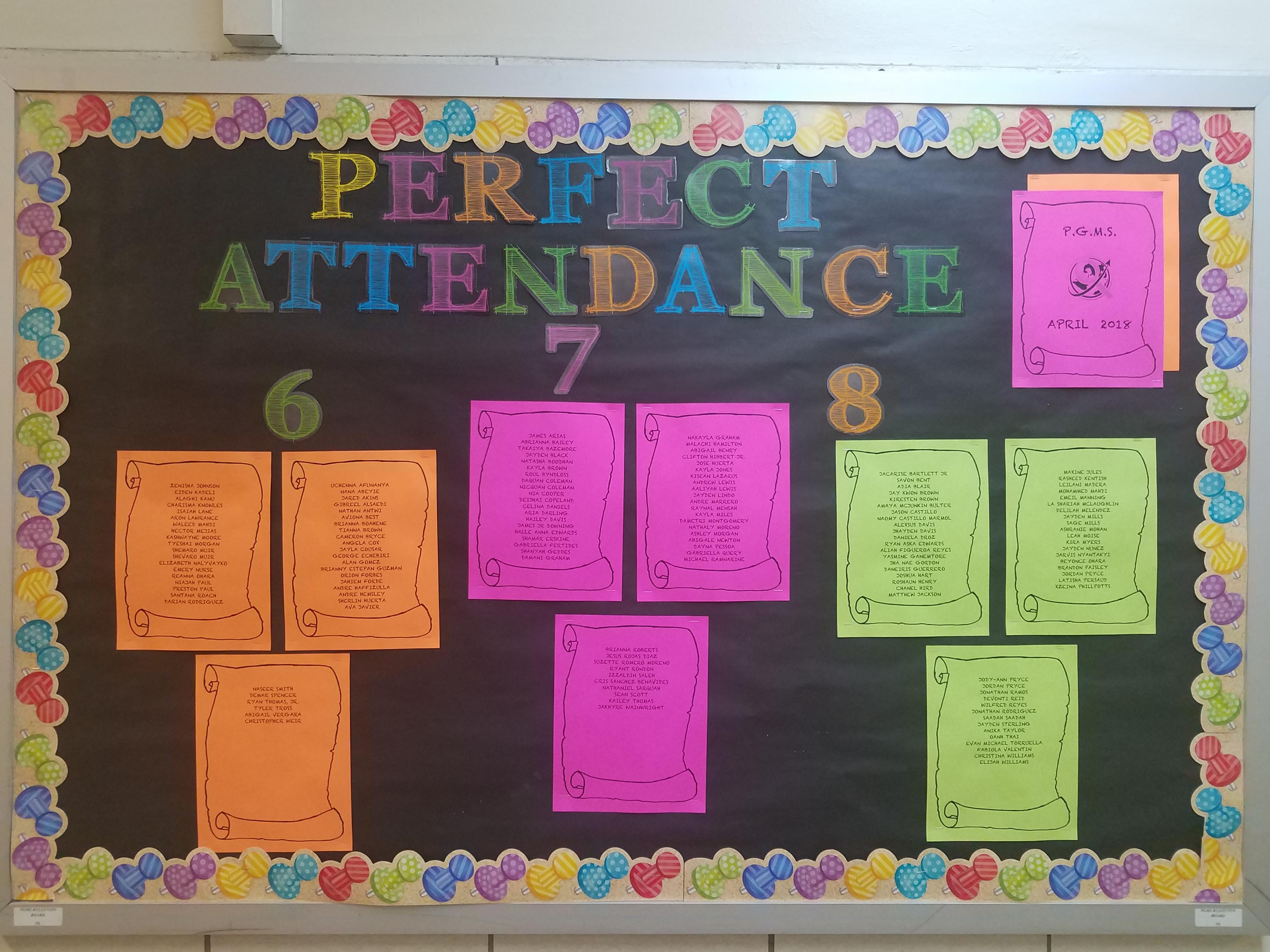 perfect attendance pelham gardens middle school