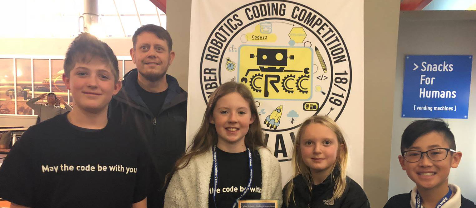 Mr. Perry and his 6th grade team at the Cradle of Aviation Museum for theNew York State Cyber Robotics Coding Competition Finals.