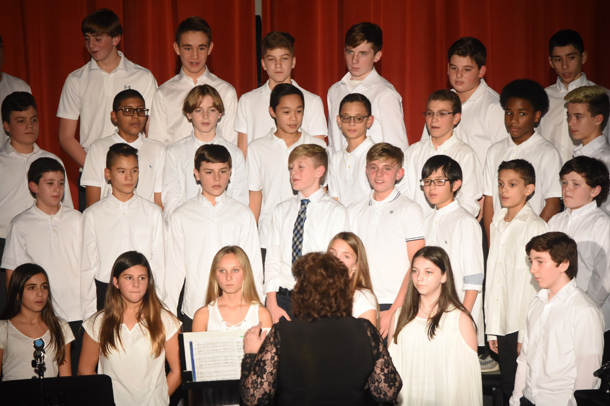 The Seventh and Eighth Grade Winter Concert.