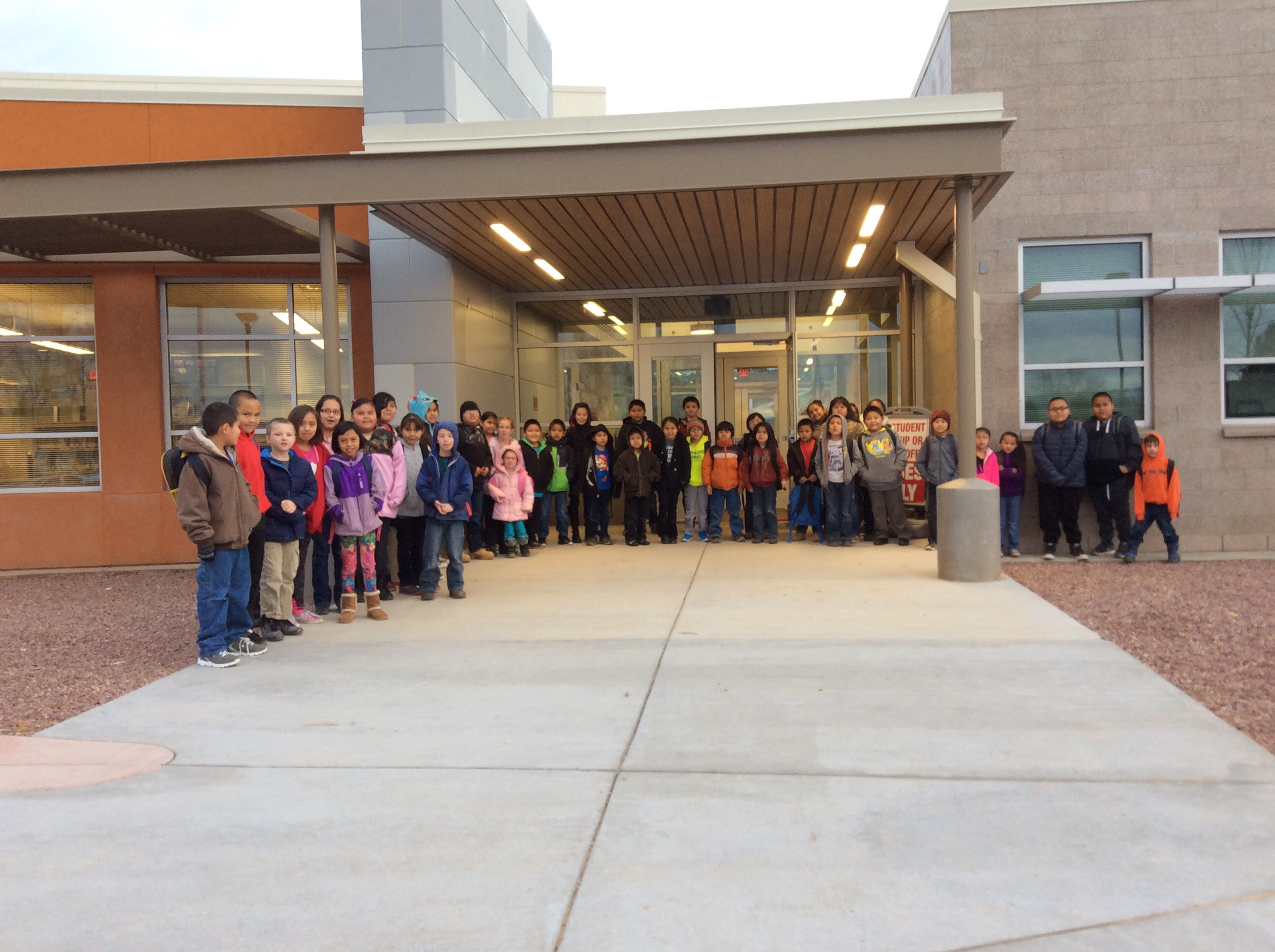 Front of the new Ramah Elementary