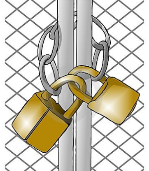 closed gates graphic