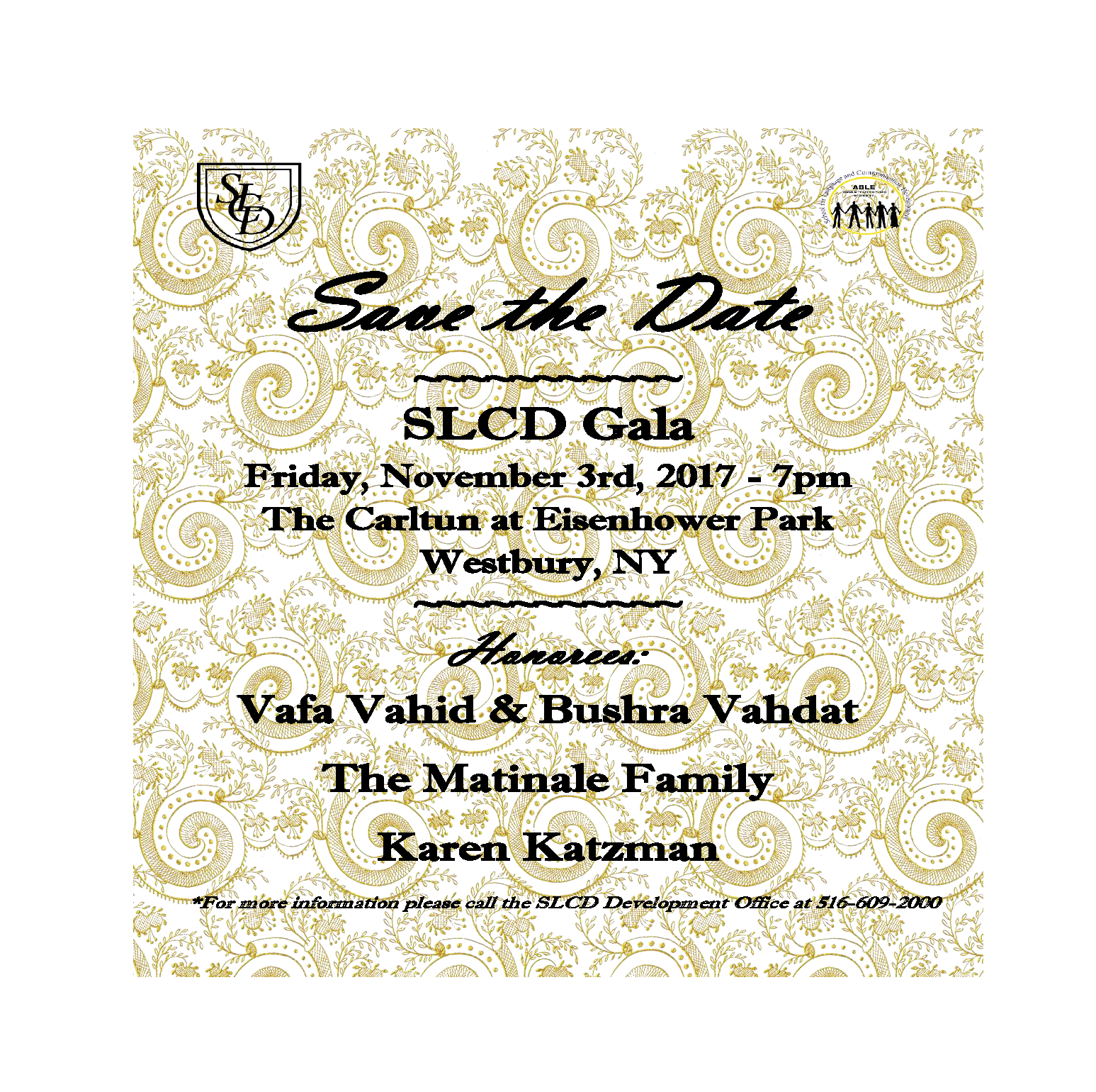 Save the Date - SLCD 2017 Gala