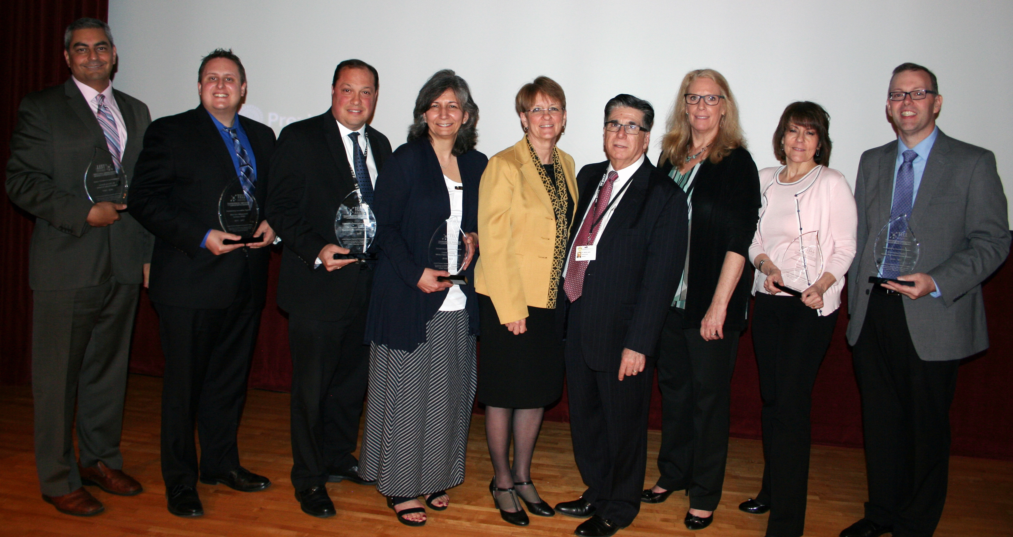 Recipients of LHRIC's 2015-2016 TELL Awards