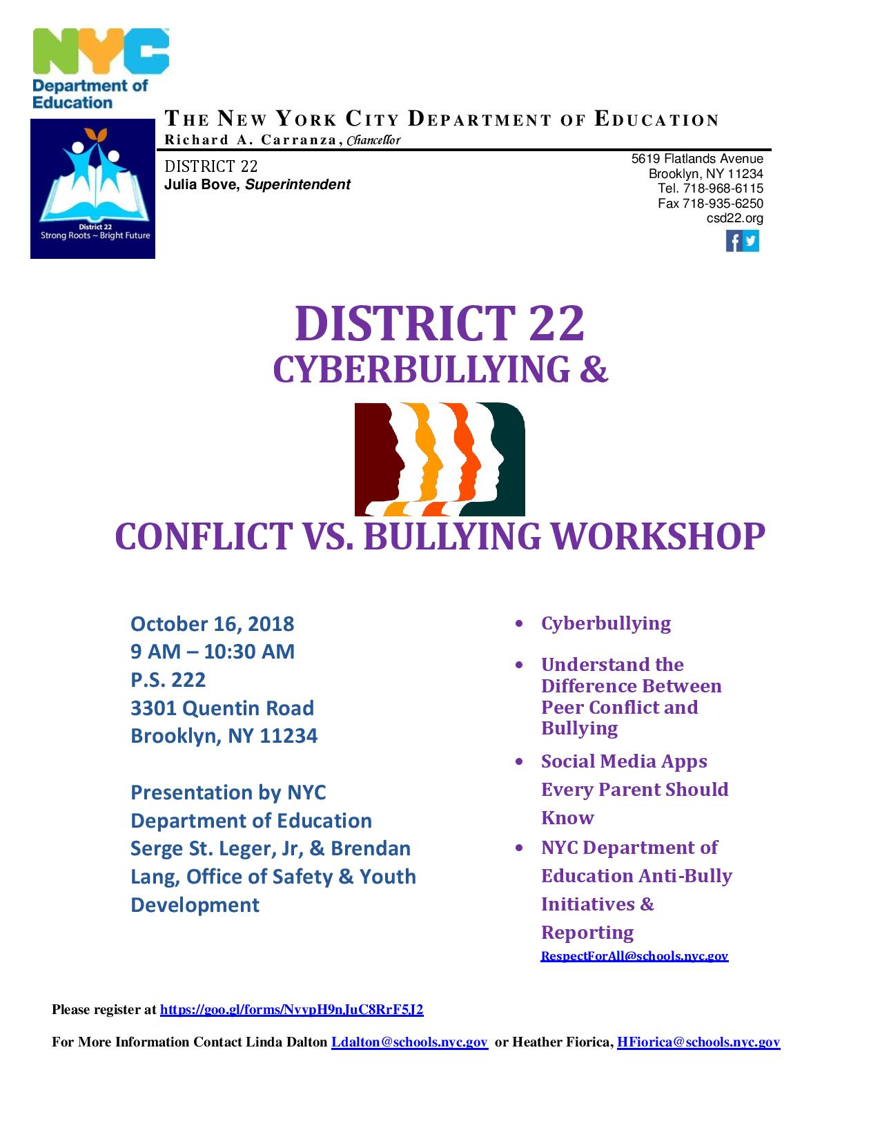 Home page ps 255 the barbara reing school district 22 cyberbullying meeting fandeluxe Images