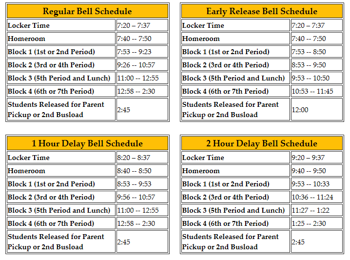 Bell Schedules - J.E.J. Moore Middle School 19052cf3fa