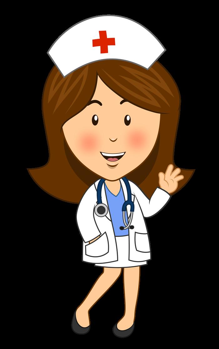 Nurse waving hello