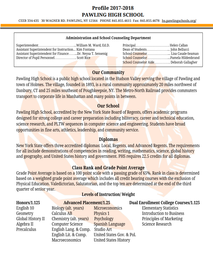 Workbooks regents biology worksheets : School Counseling Office Page - Pawling High School