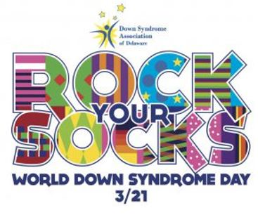 Down Syndrome Awareness Day Rock Your Socks Logo