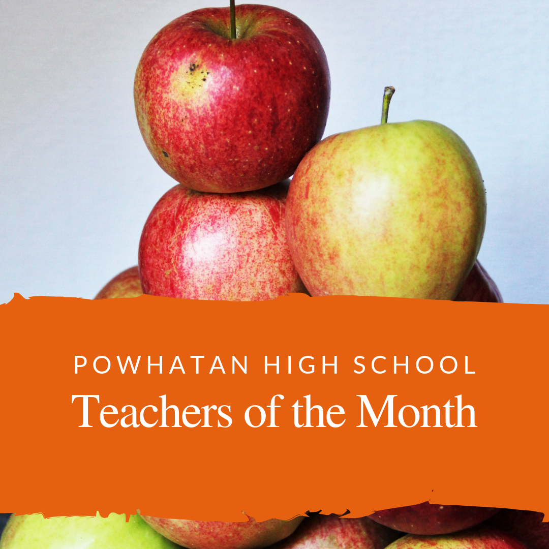 apples and teachers of the month text